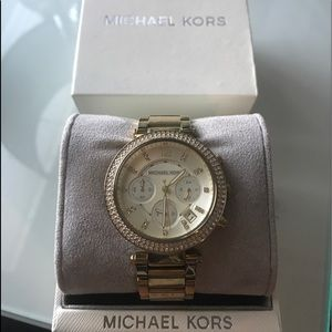 Michael Kors gold pave' women's watch